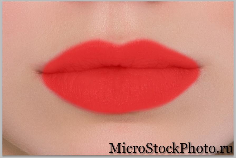 Как накрасить губы в фотошопе блеском