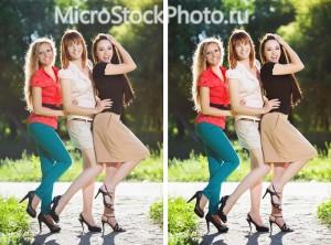 Three joyful women